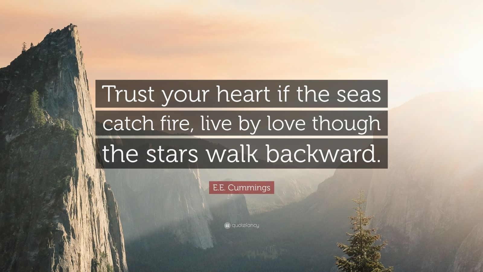 Startup Quotes Wallpaper E E Cummings Quote Trust Your Heart If The Seas Catch
