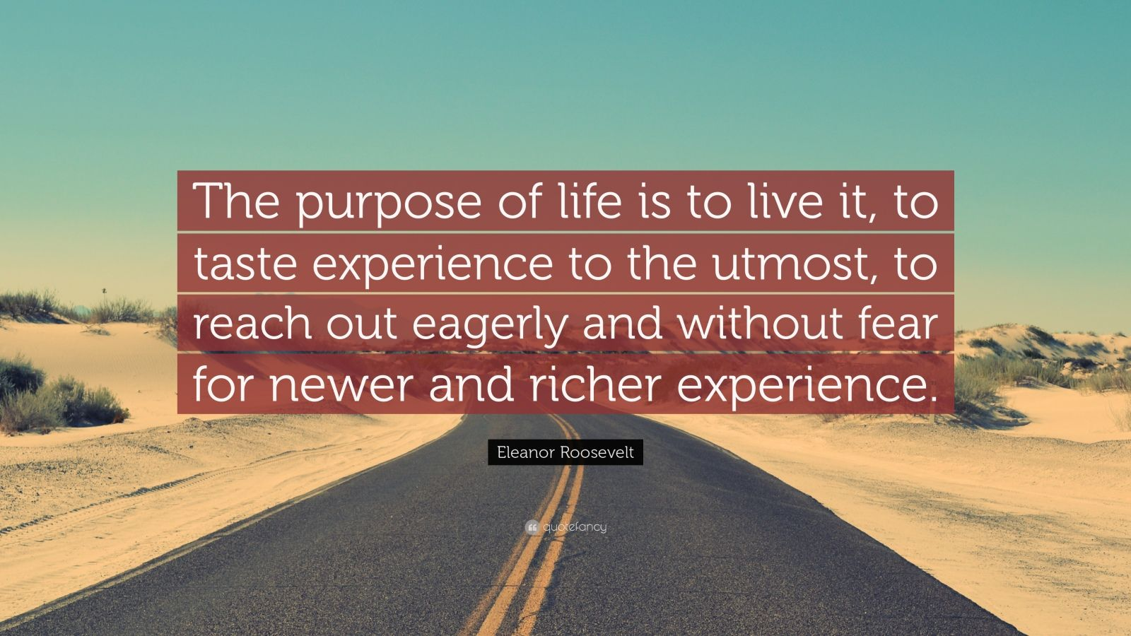 Eleanor Roosevelt Quote Wallpaper Eleanor Roosevelt Quote The Purpose Of Life Is To Live