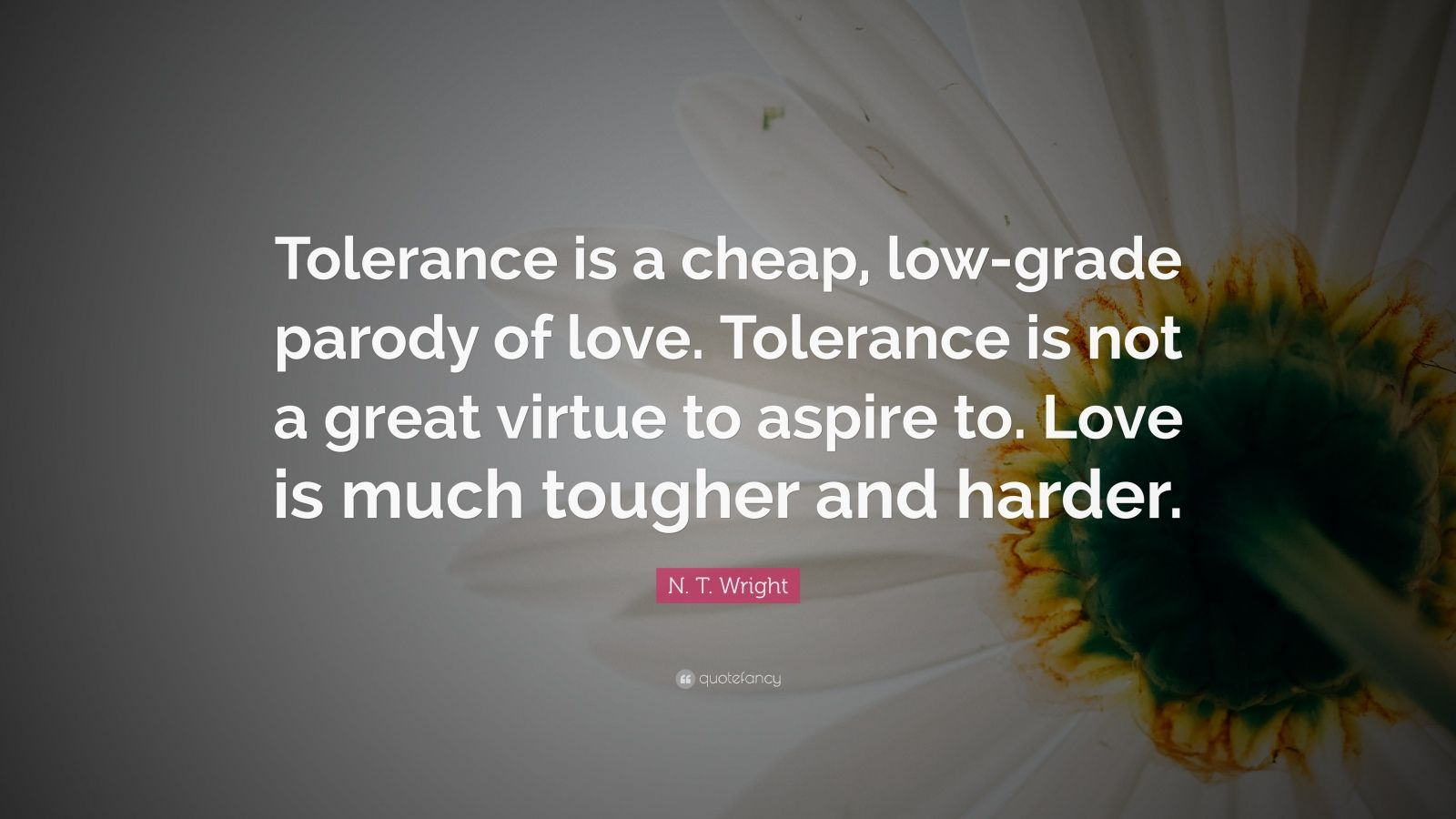 I Love Myself Quotes Wallpapers N T Wright Quote Tolerance Is A Cheap Low Grade
