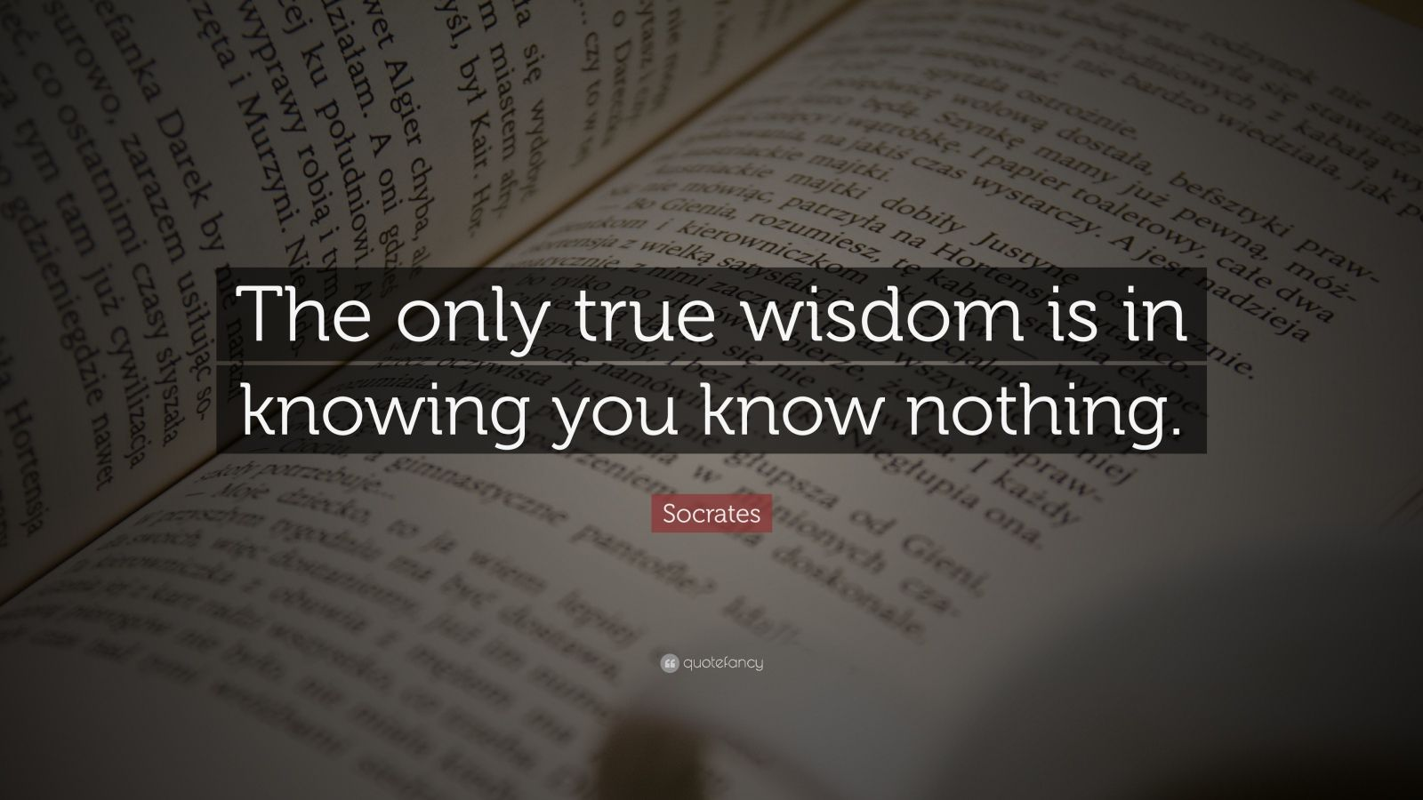 Dalai Lama Quotes Wallpapers Socrates Quote The Only True Wisdom Is In Knowing You
