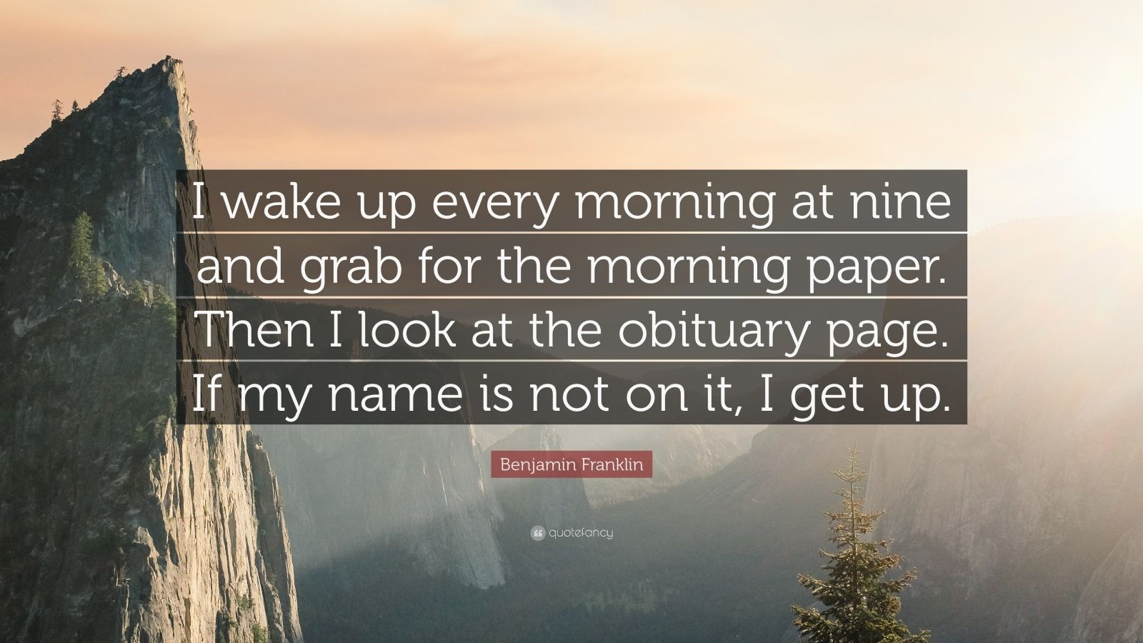 Persistence Quotes Wallpapers Benjamin Franklin Quote I Wake Up Every Morning At Nine