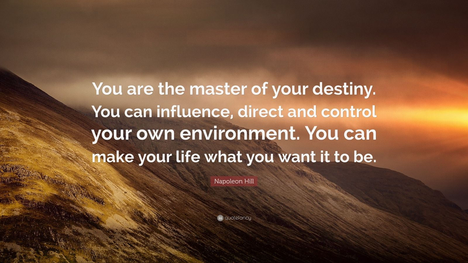 Napoleon Hill Quotes Wallpaper Napoleon Hill Quote You Are The Master Of Your Destiny