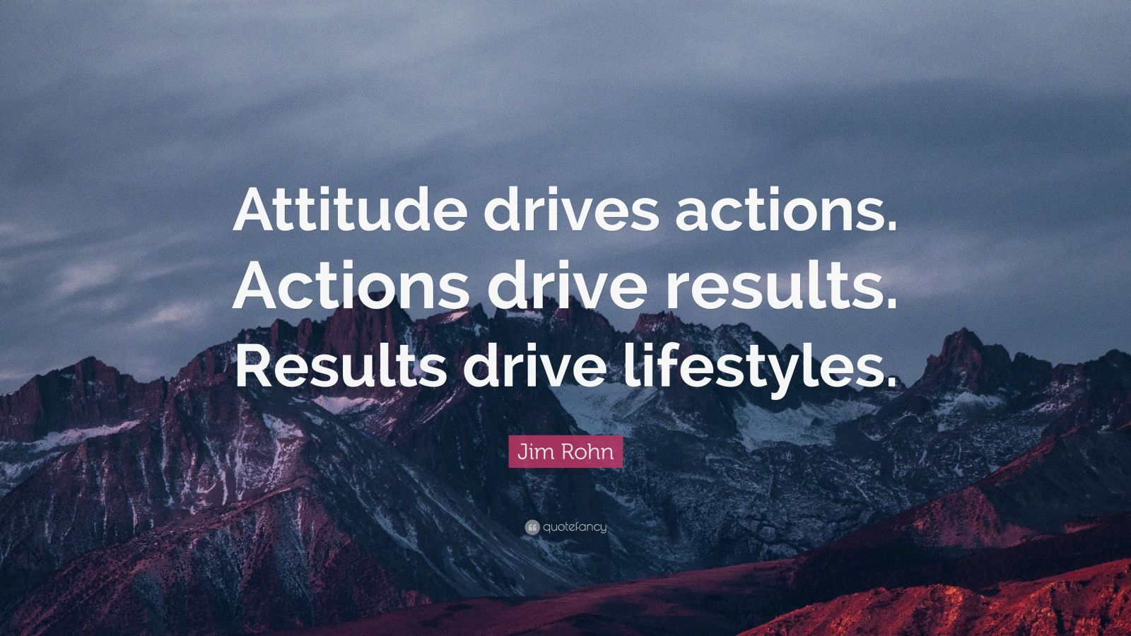 Quote Wallpaper Drive Jim Rohn Quote Attitude Drives Actions Actions Drive
