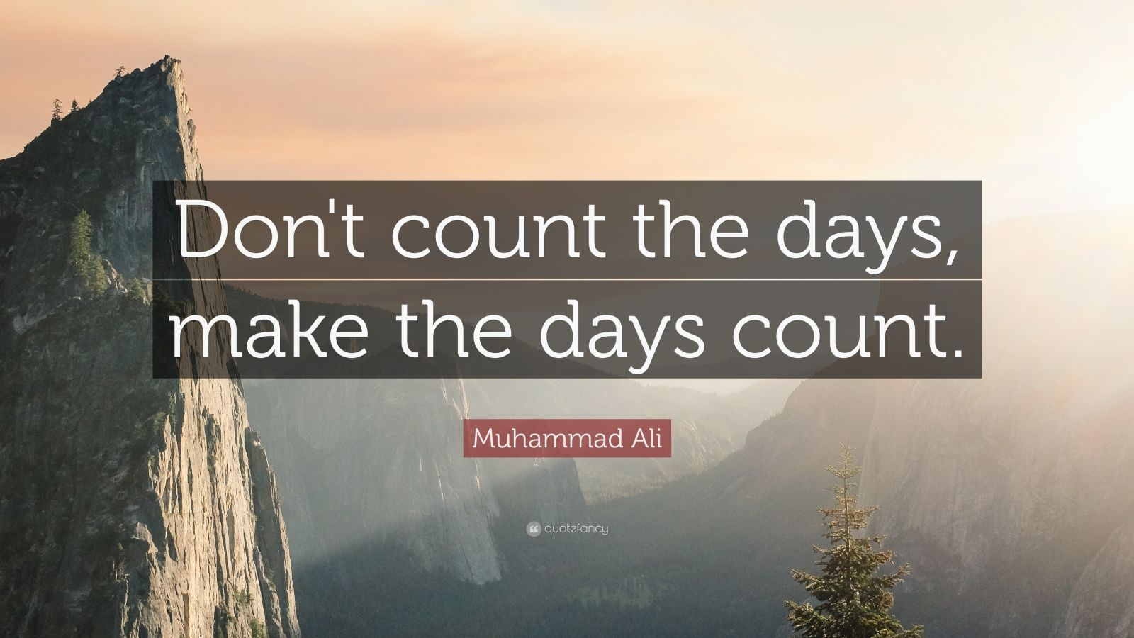 Manny Pacquiao Quotes Wallpaper Muhammad Ali Quote Don T Count The Days Make The Days