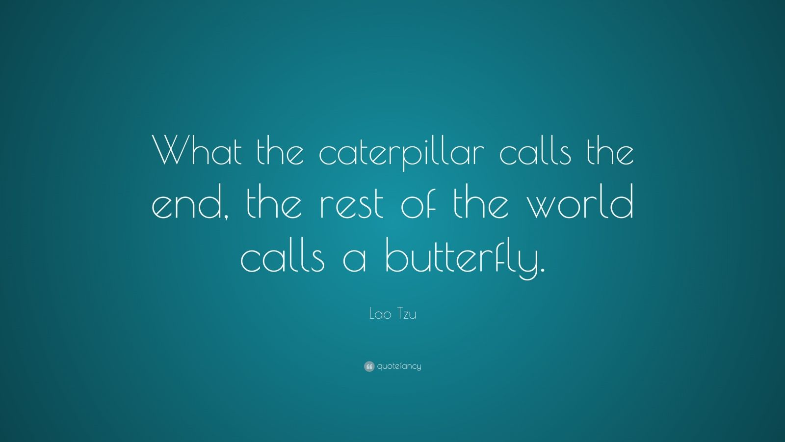 Persistence Quotes Wallpapers Lao Tzu Quote What The Caterpillar Calls The End The