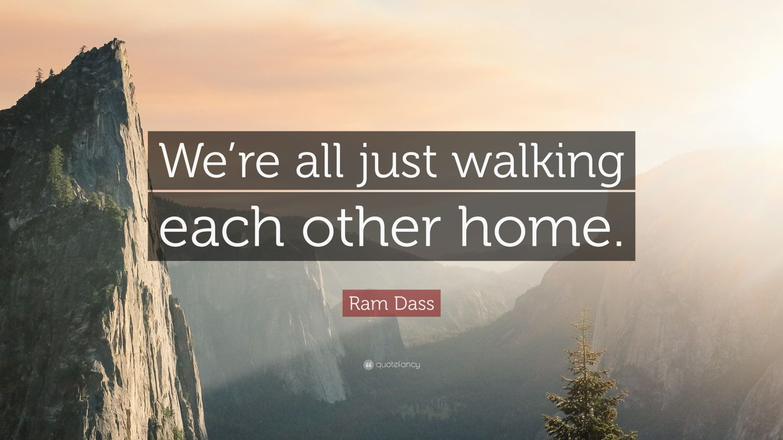 Zen Quote Wallpaper Ram Dass Quote We Re All Just Walking Each Other Home