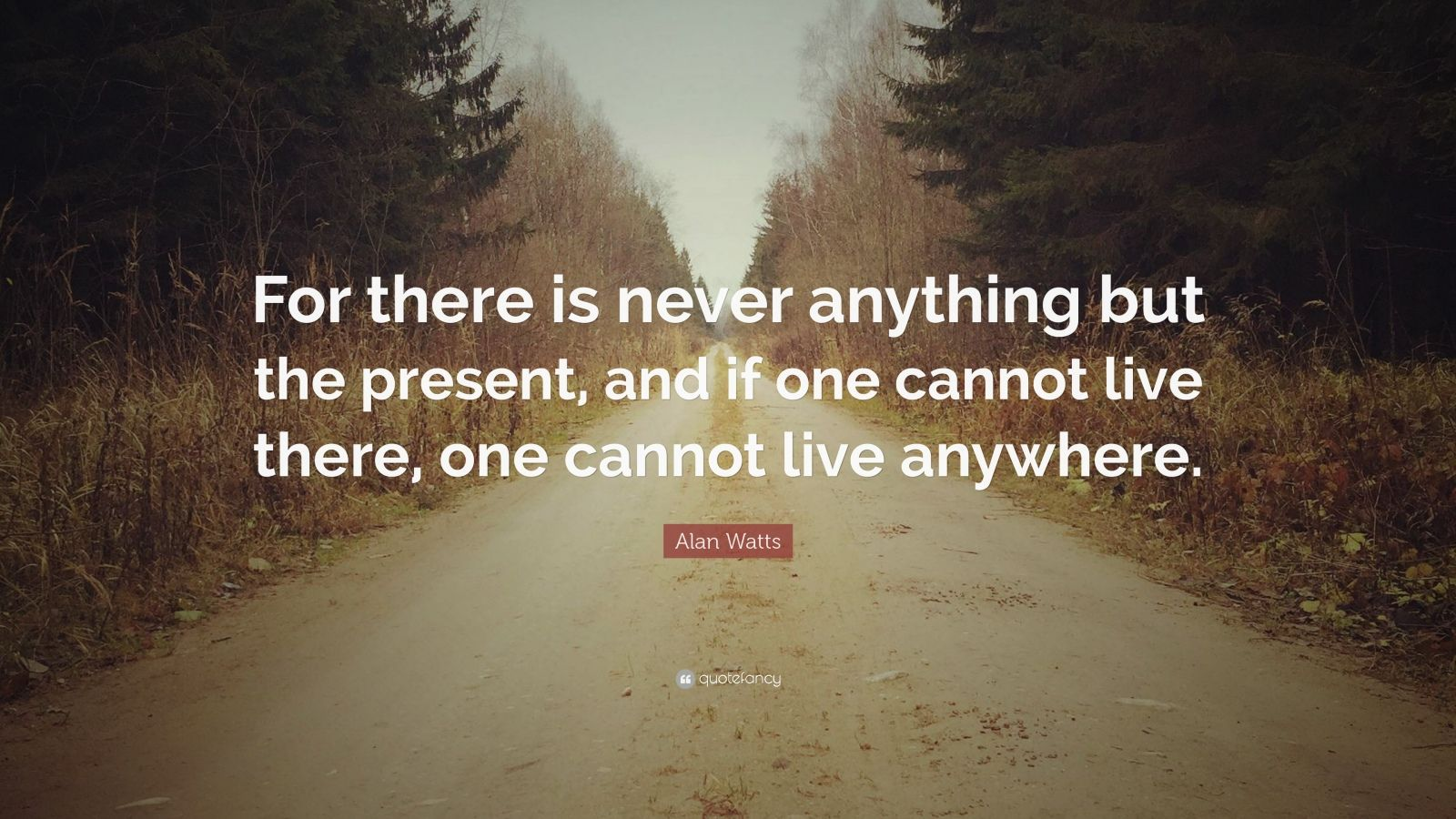 Zen Quote Wallpaper Alan Watts Quote For There Is Never Anything But The