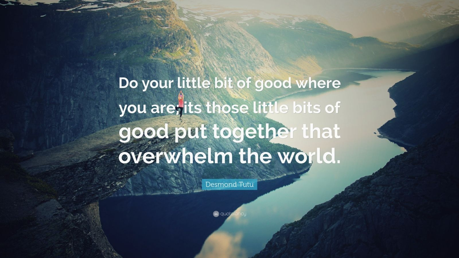 Socrates Wallpaper Quotes Desmond Tutu Quote Do Your Little Bit Of Good Where You