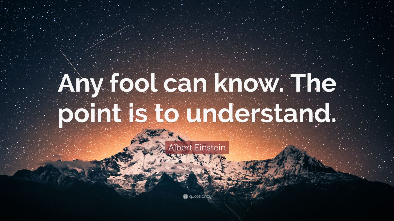 Motivational Life Quotes Wallpapers Albert Einstein Quote Any Fool Can Know The Point Is To