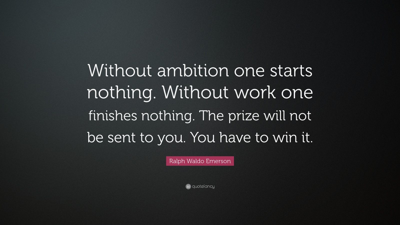 Conor Mcgregor Quote Wallpaper Ralph Waldo Emerson Quote Without Ambition One Starts