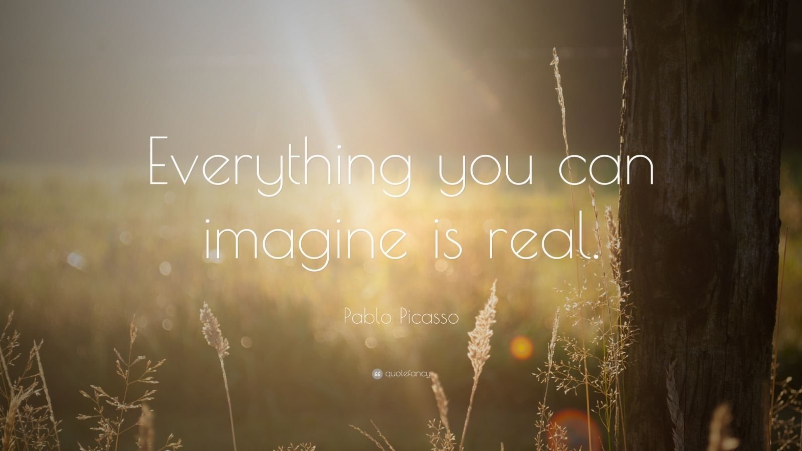 John Lennon Quotes Wallpaper Pablo Picasso Quote Everything You Can Imagine Is Real