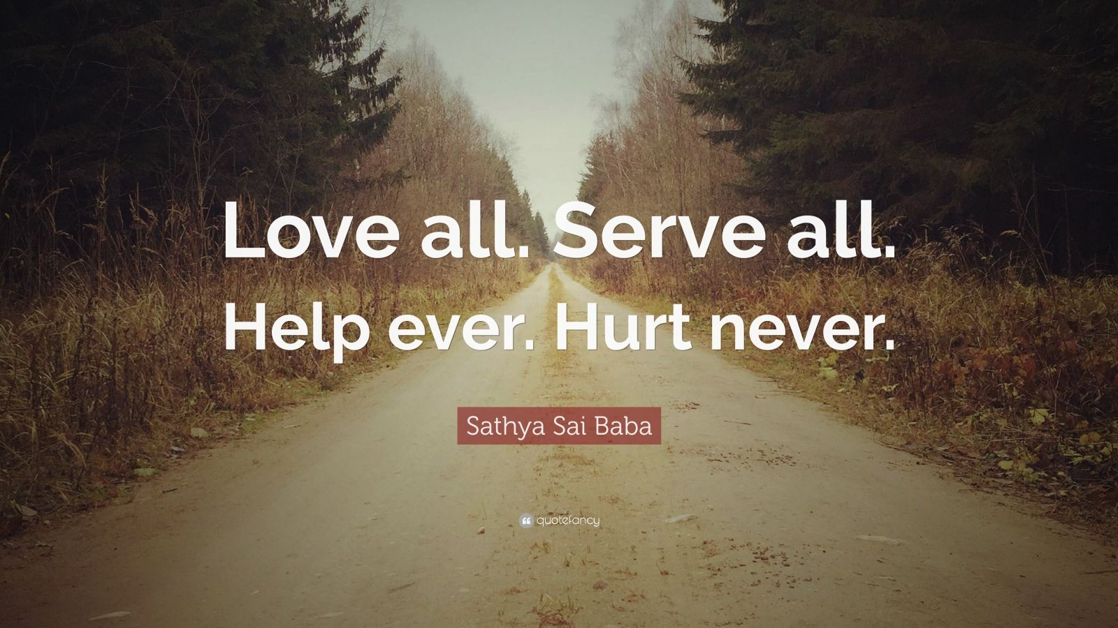 Knowledge Quotes Wallpapers 4k Sathya Sai Baba Quote Love All Serve All Help Ever