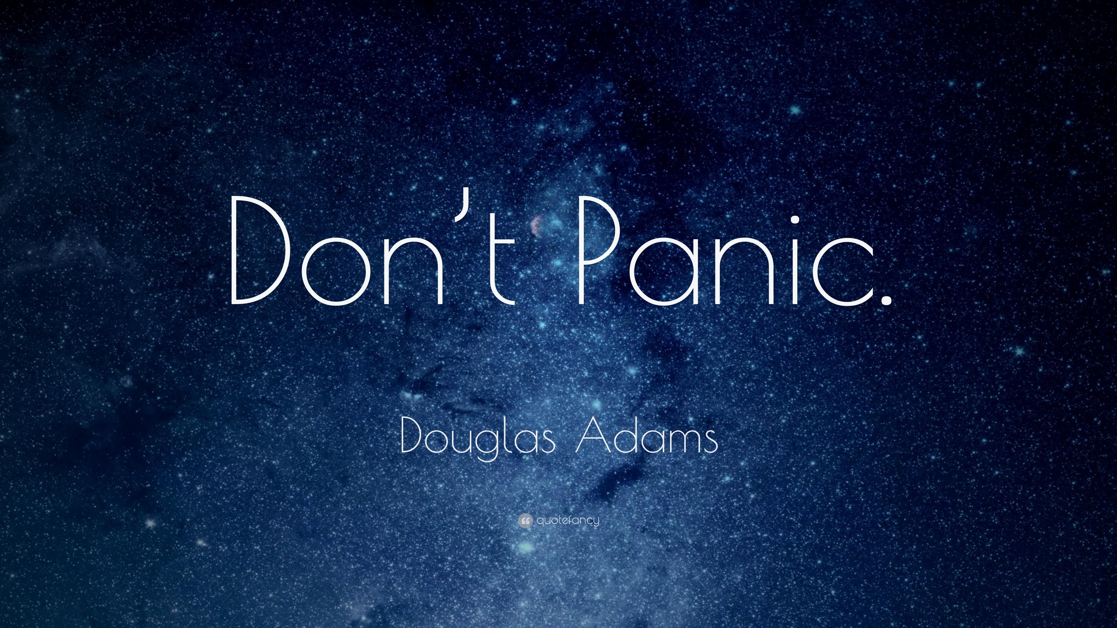 Sherlock Wallpaper Quote Douglas Adams Quote Don T Panic 25 Wallpapers