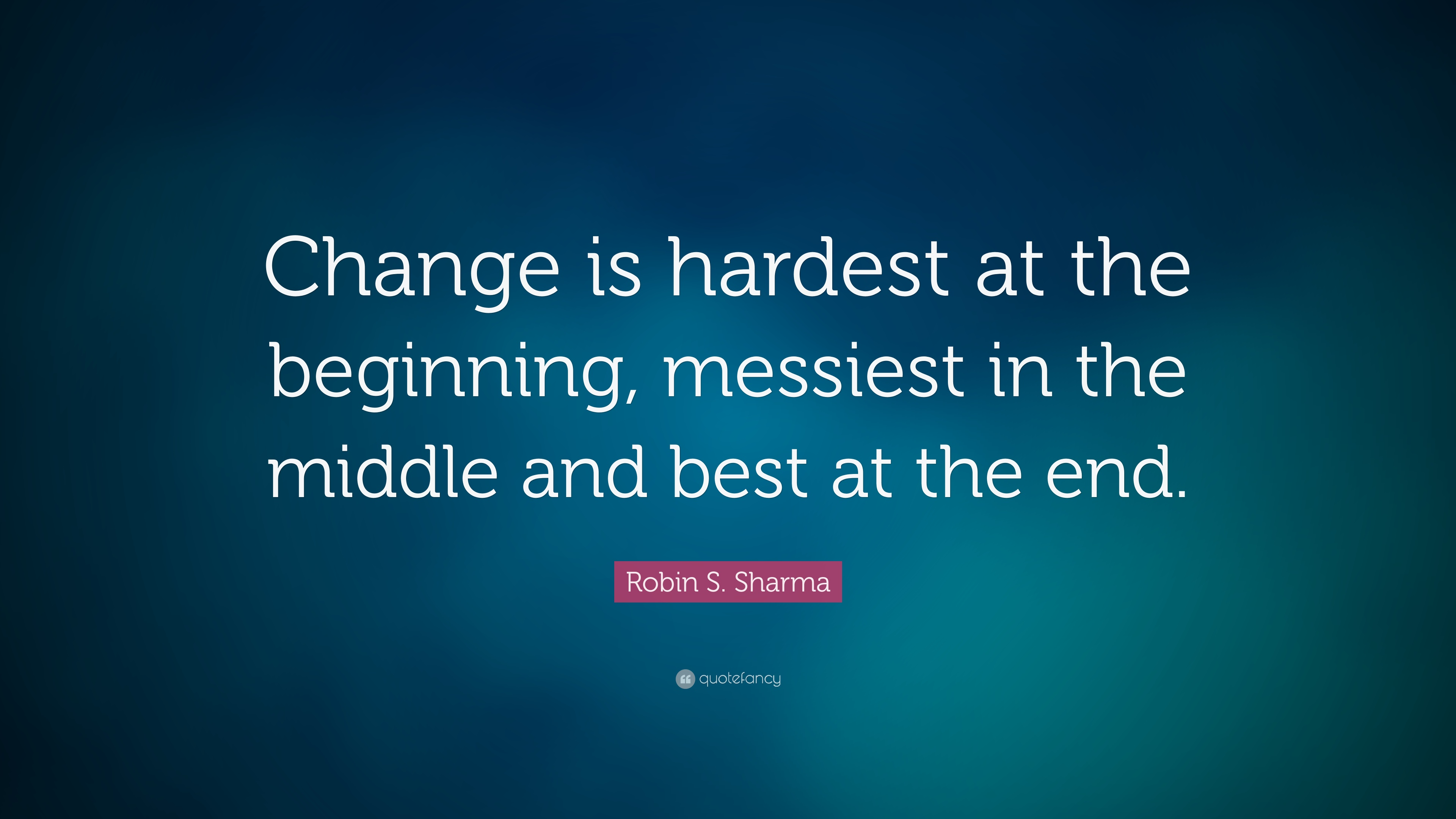 Theodore Roosevelt Wallpaper Quote Robin S Sharma Quote Change Is Hardest At The Beginning