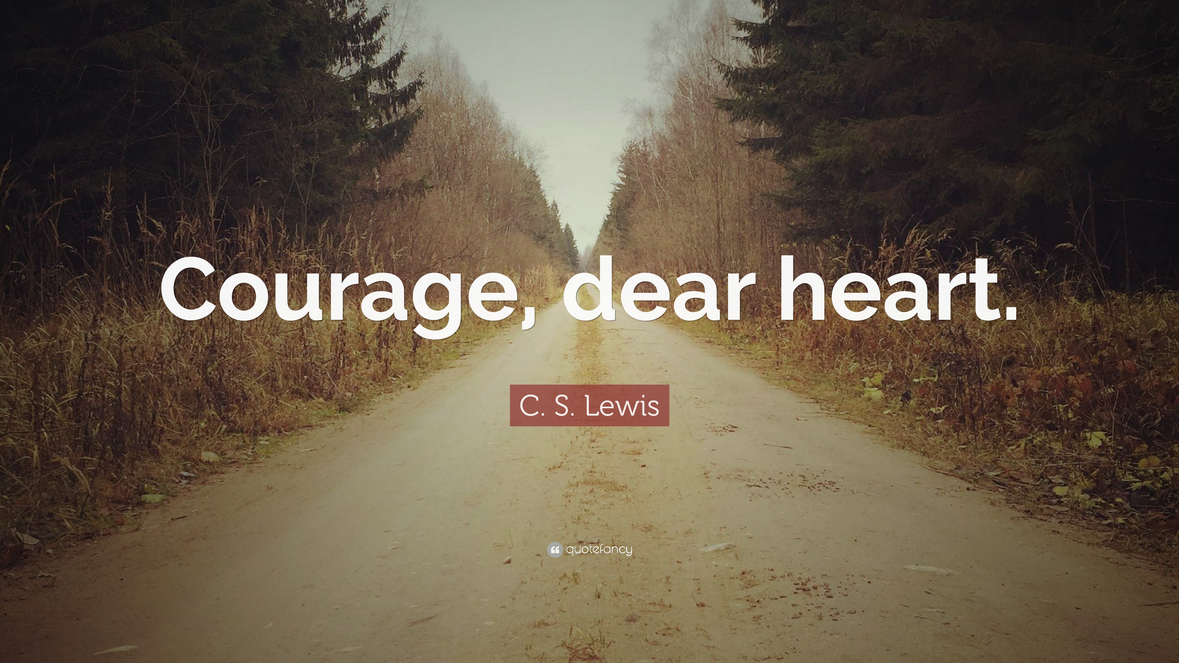 Motivational Quotes Computer Backgrounds Wallpapers C S Lewis Quote Courage Dear Heart 9 Wallpapers