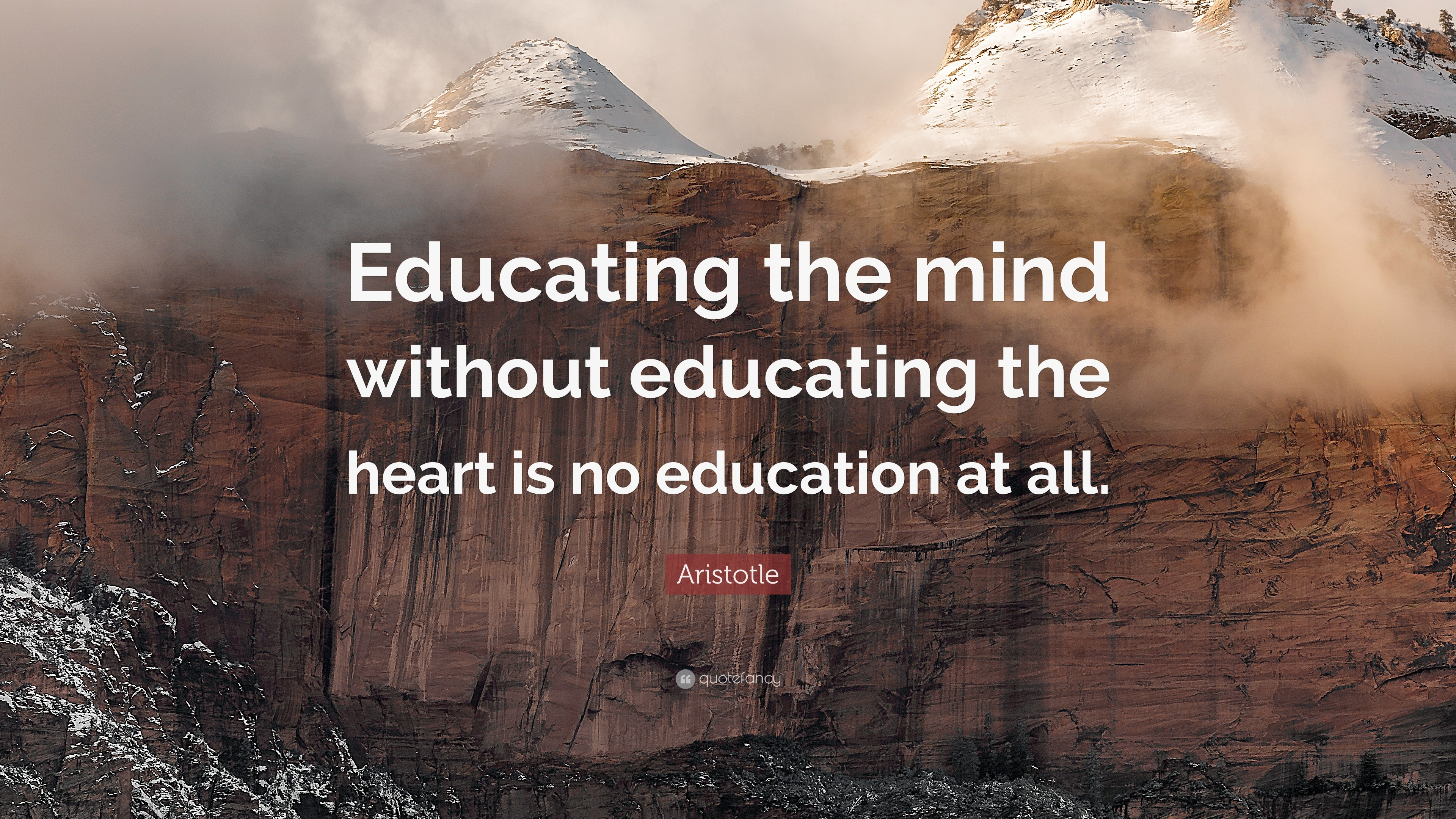 Extraordinary Wallpapers With Quotes Aristotle Quote Educating The Mind Without Educating The