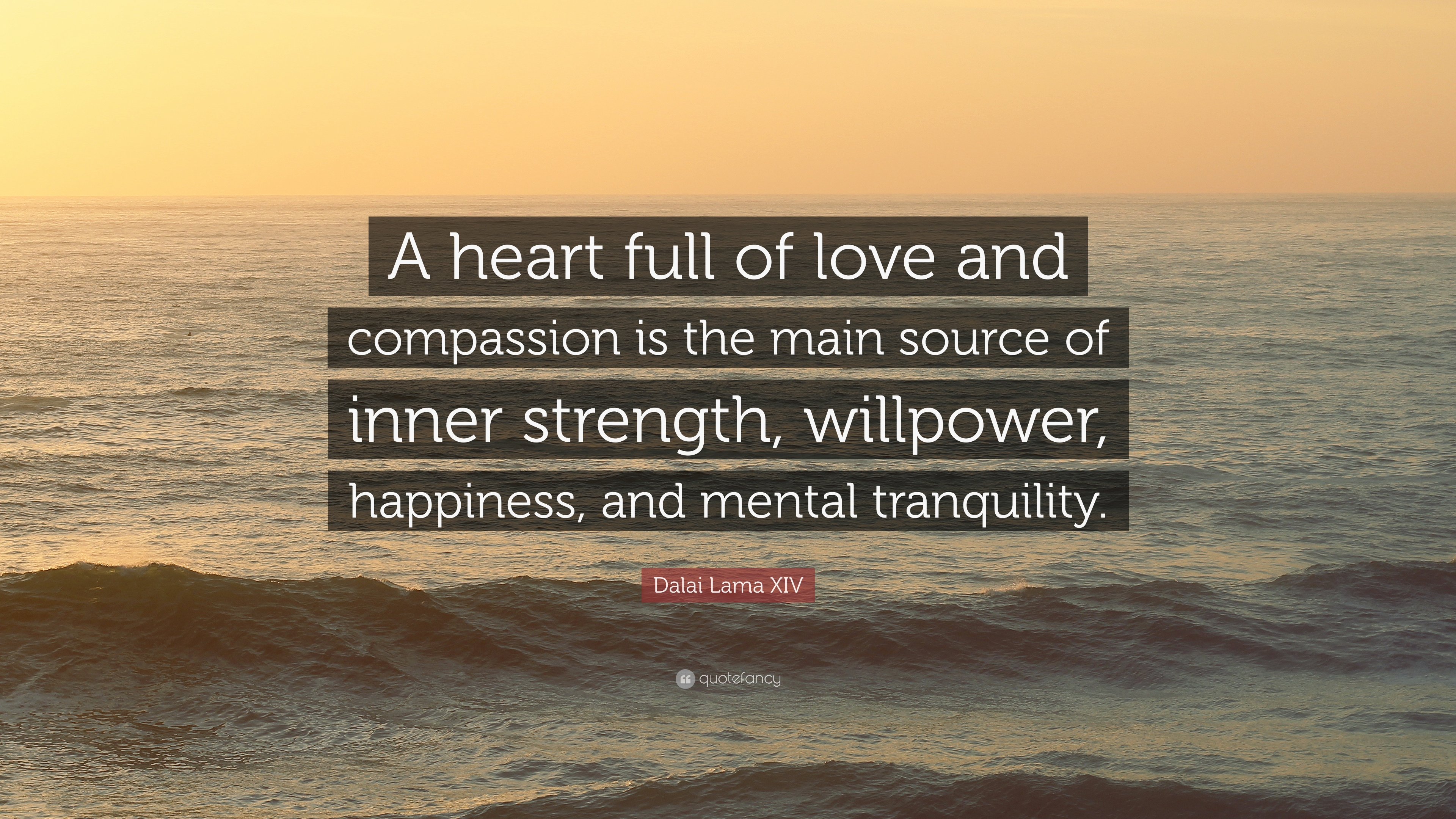 Willpower Quotes Wallpaper Dalai Lama Xiv Quote A Heart Full Of Love And Compassion