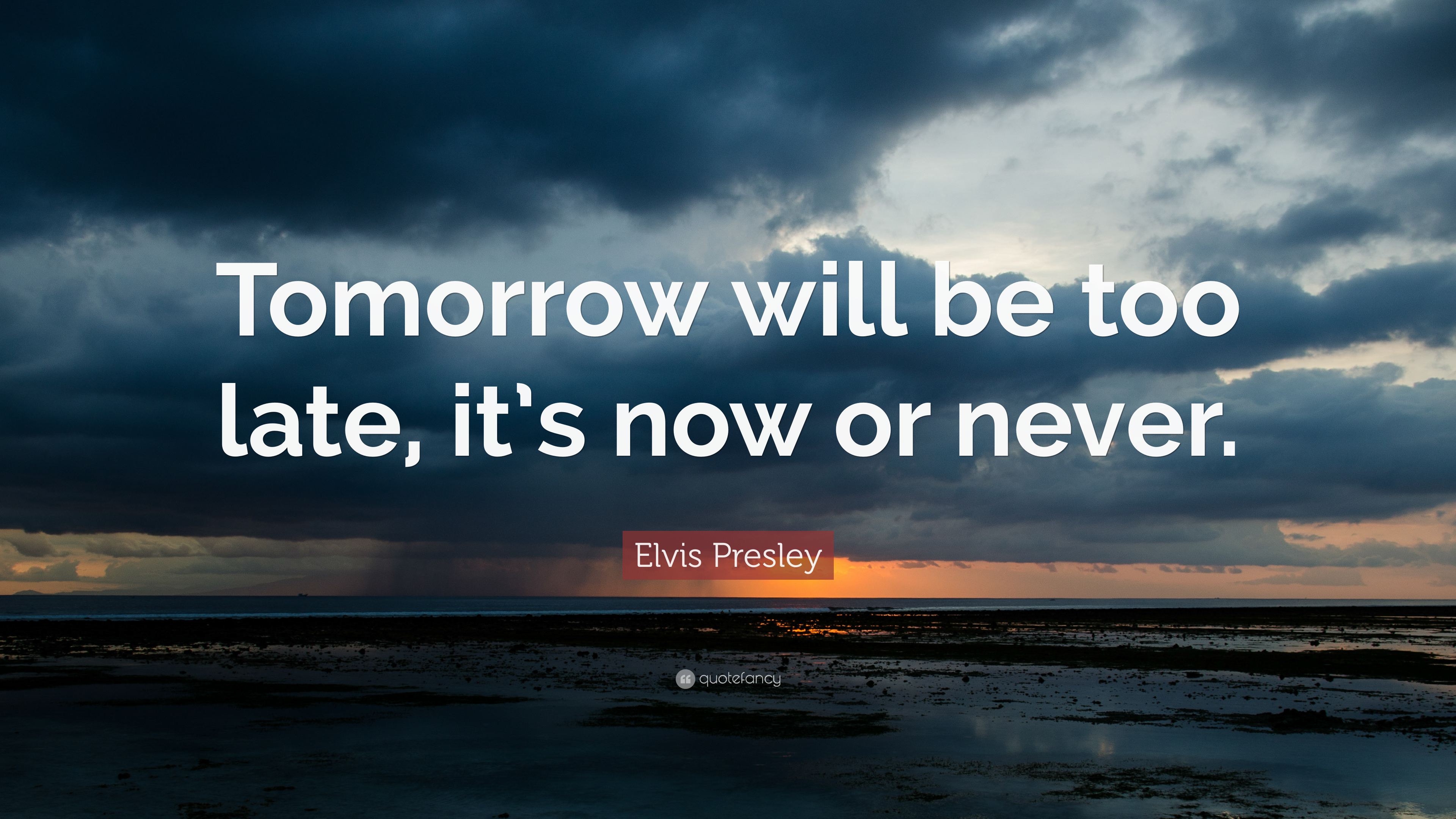 War Quote Wallpaper Hd Elvis Presley Quote Tomorrow Will Be Too Late It S Now