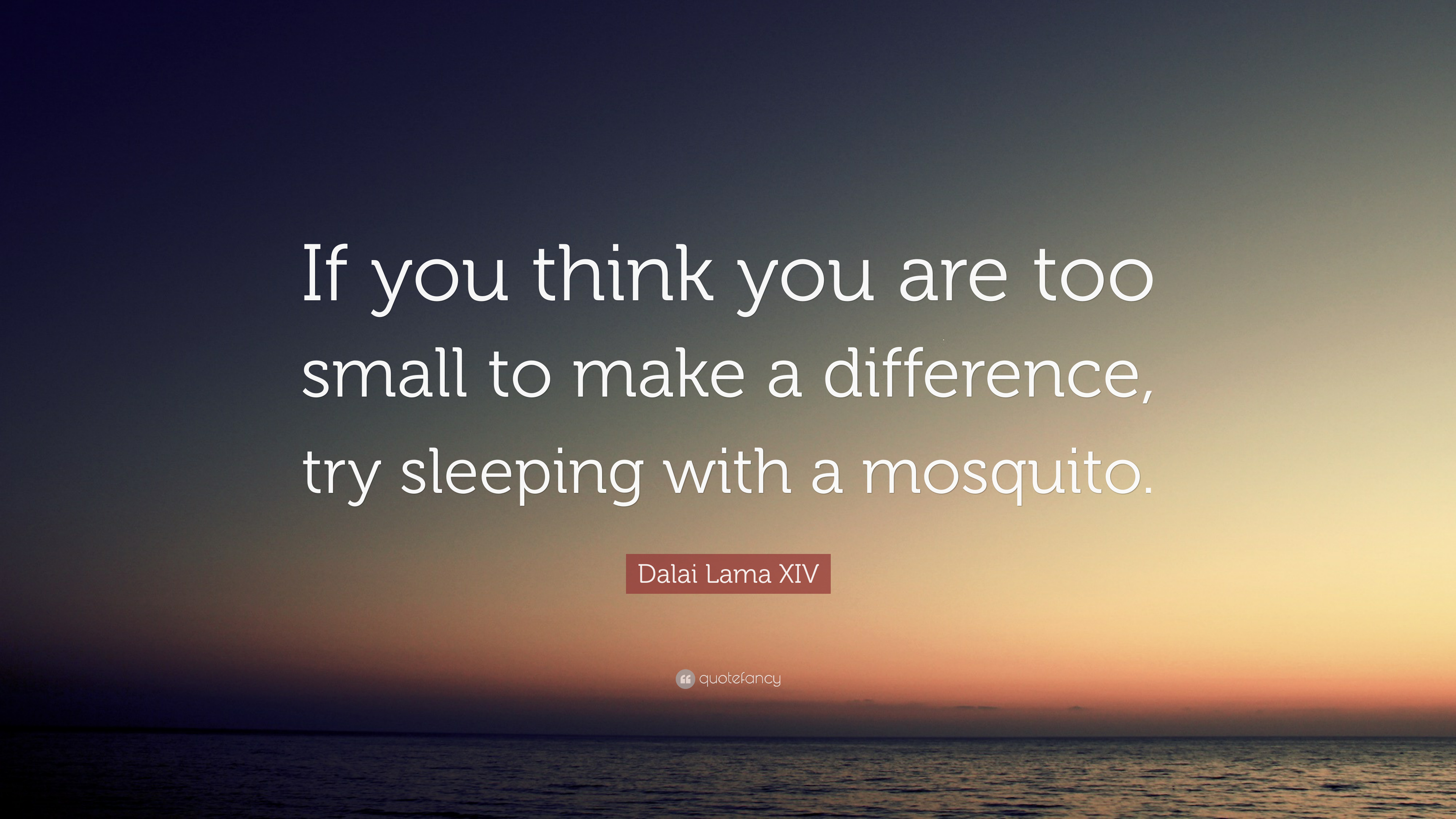 Dalai Lama Quotes Wallpapers Dalai Lama Xiv Quote If You Think You Are Too Small To