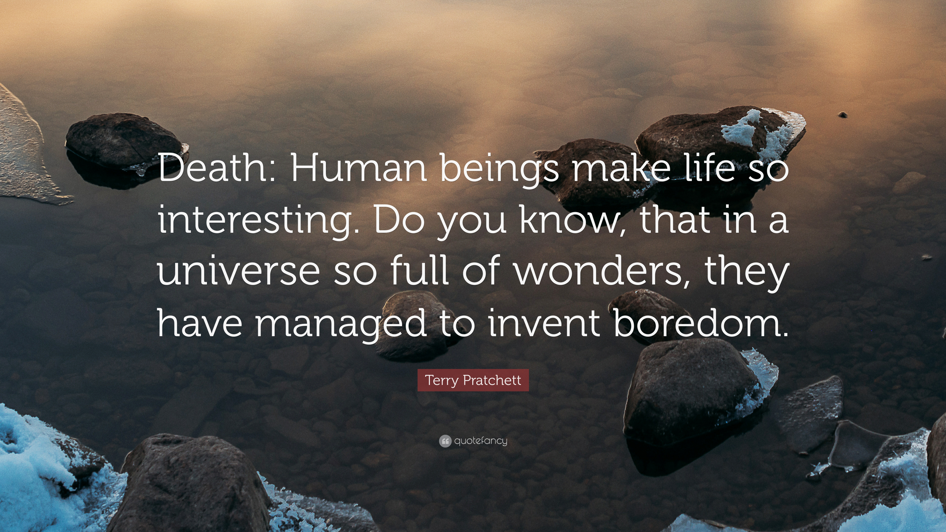 Zen Quote Wallpapers Terry Pratchett Quote Death Human Beings Make Life So