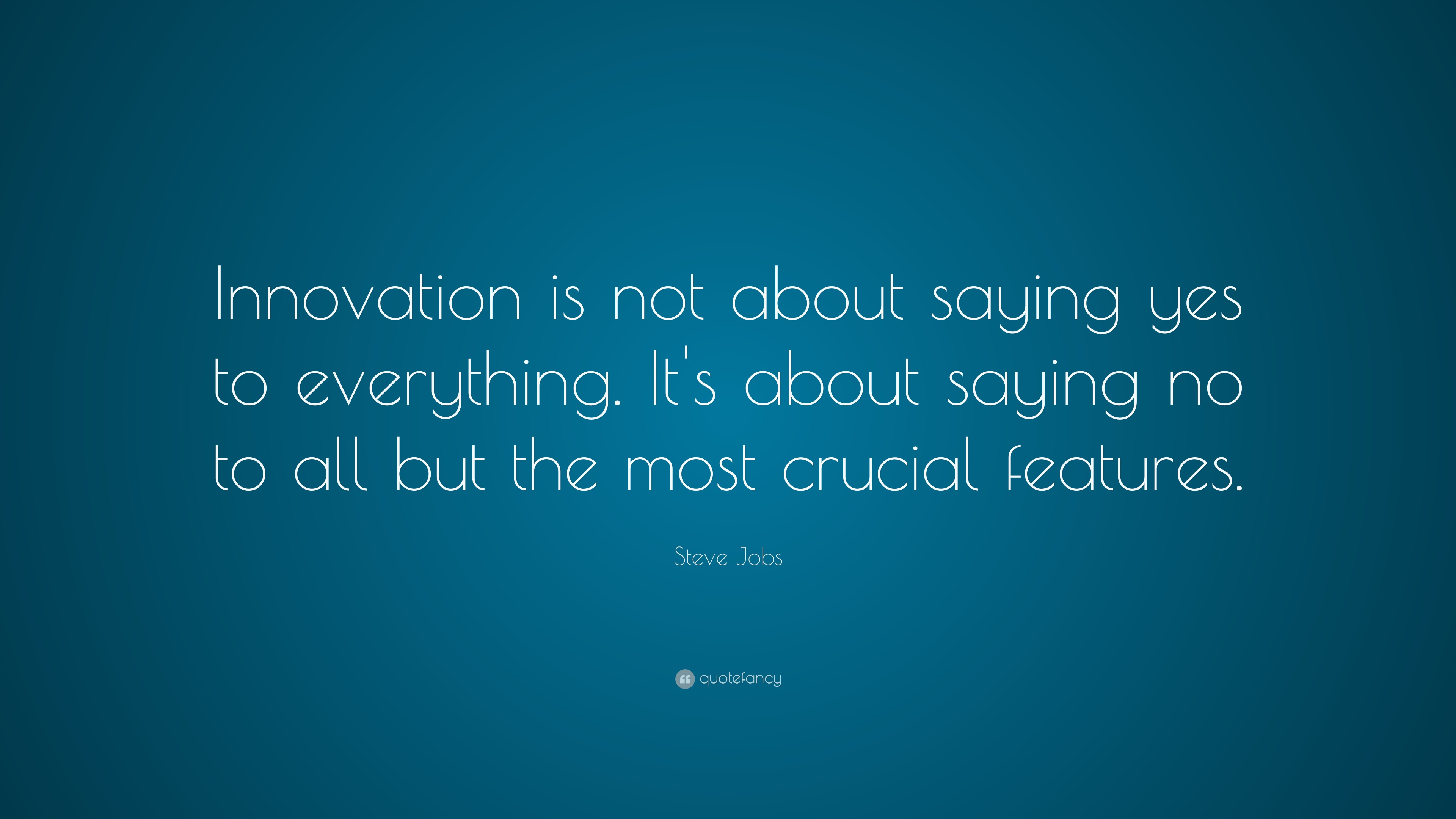 Short Quotes Wallpapers Hd Steve Jobs Quote Innovation Is Not About Saying Yes To