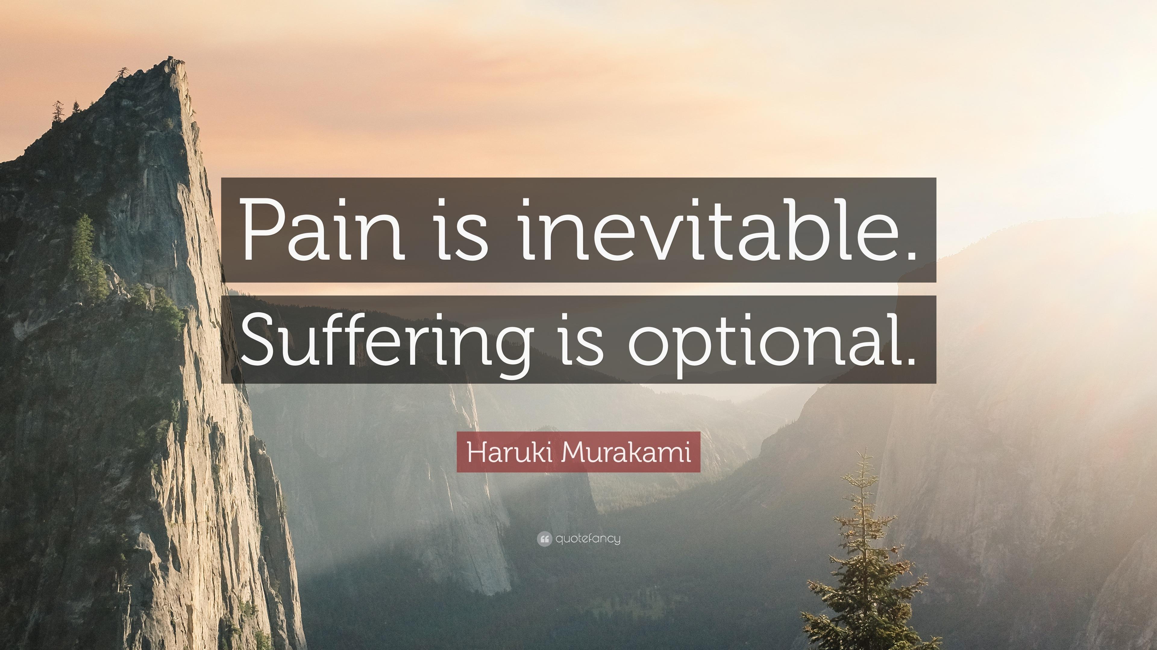 John Lennon Quotes Wallpaper Haruki Murakami Quote Pain Is Inevitable Suffering Is