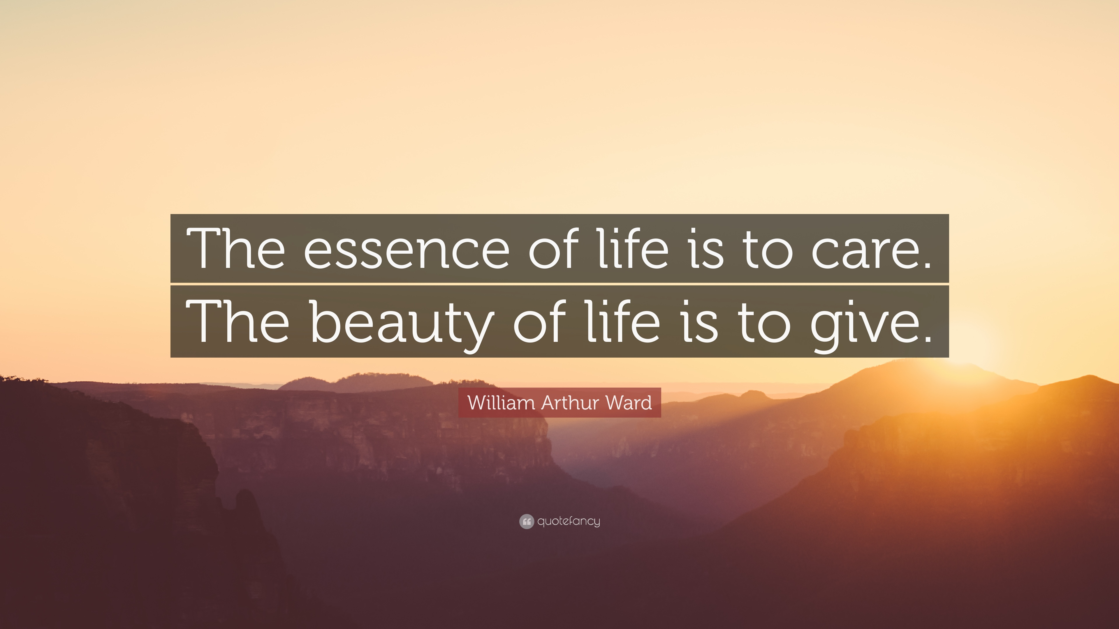 Casey Neistat Quotes Wallpaper William Arthur Ward Quote The Essence Of Life Is To Care