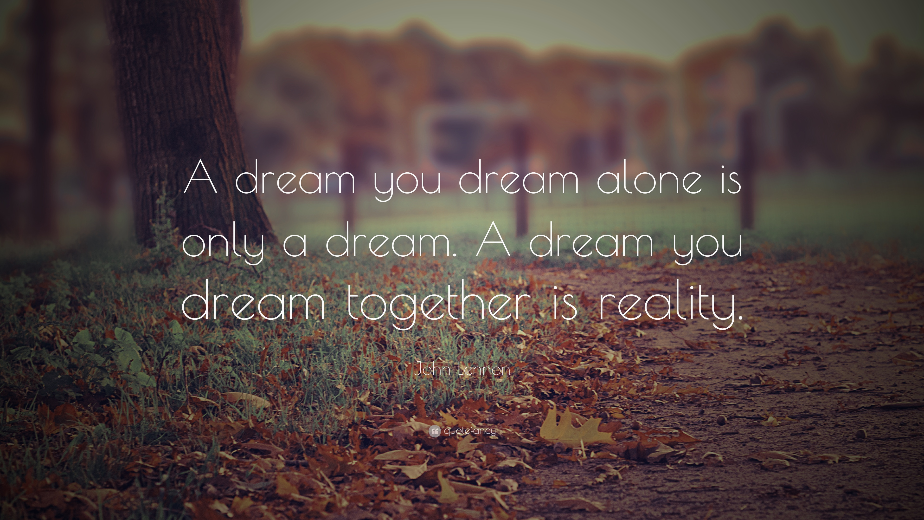 Peaceful Wallpaper With Quotes John Lennon Quote A Dream You Dream Alone Is Only A
