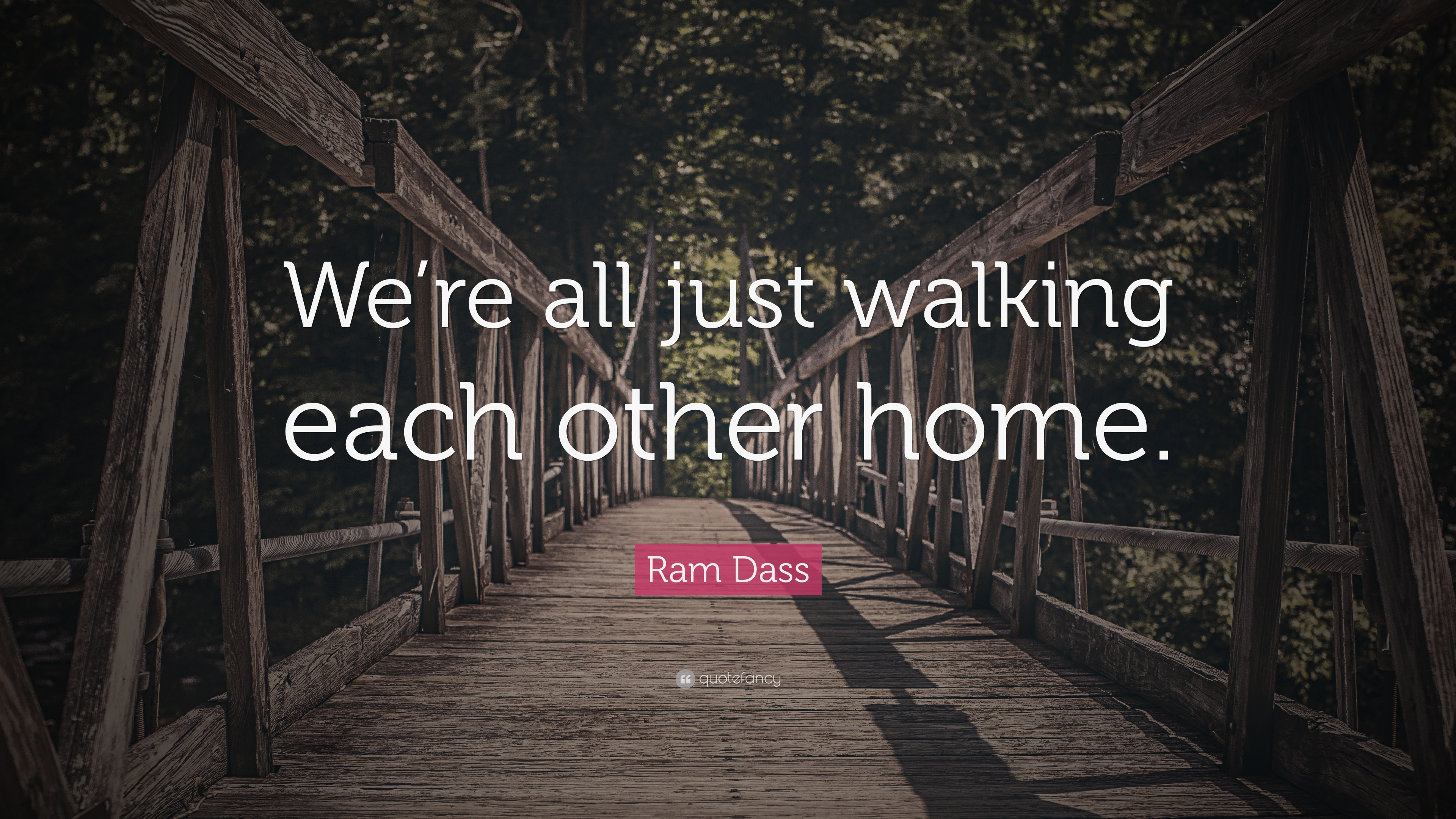 Rumi Quotes Wallpaper Ram Dass Quote We Re All Just Walking Each Other Home