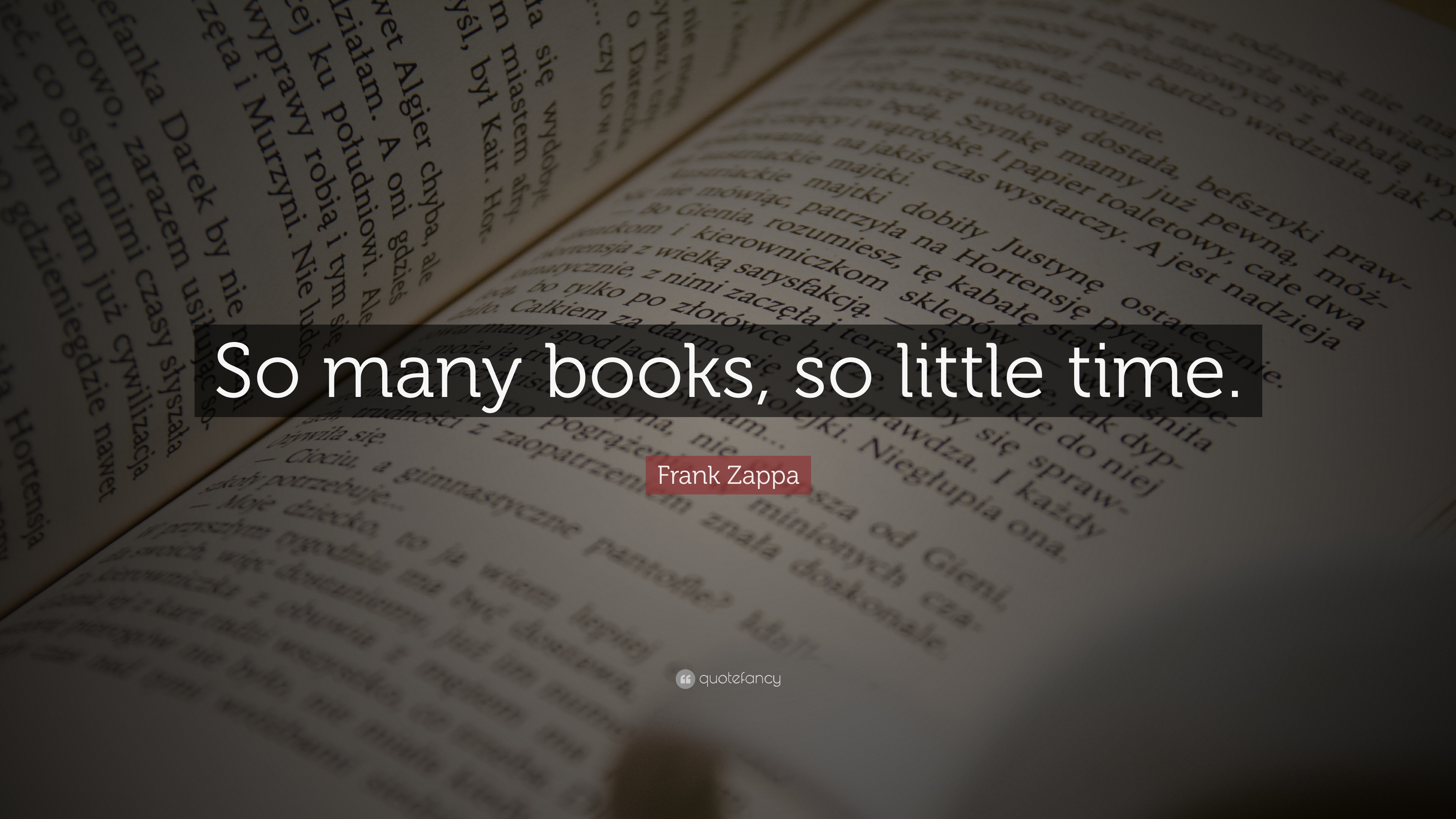 Hello Fall Wallpaper Frank Zappa Quote So Many Books So Little Time 17