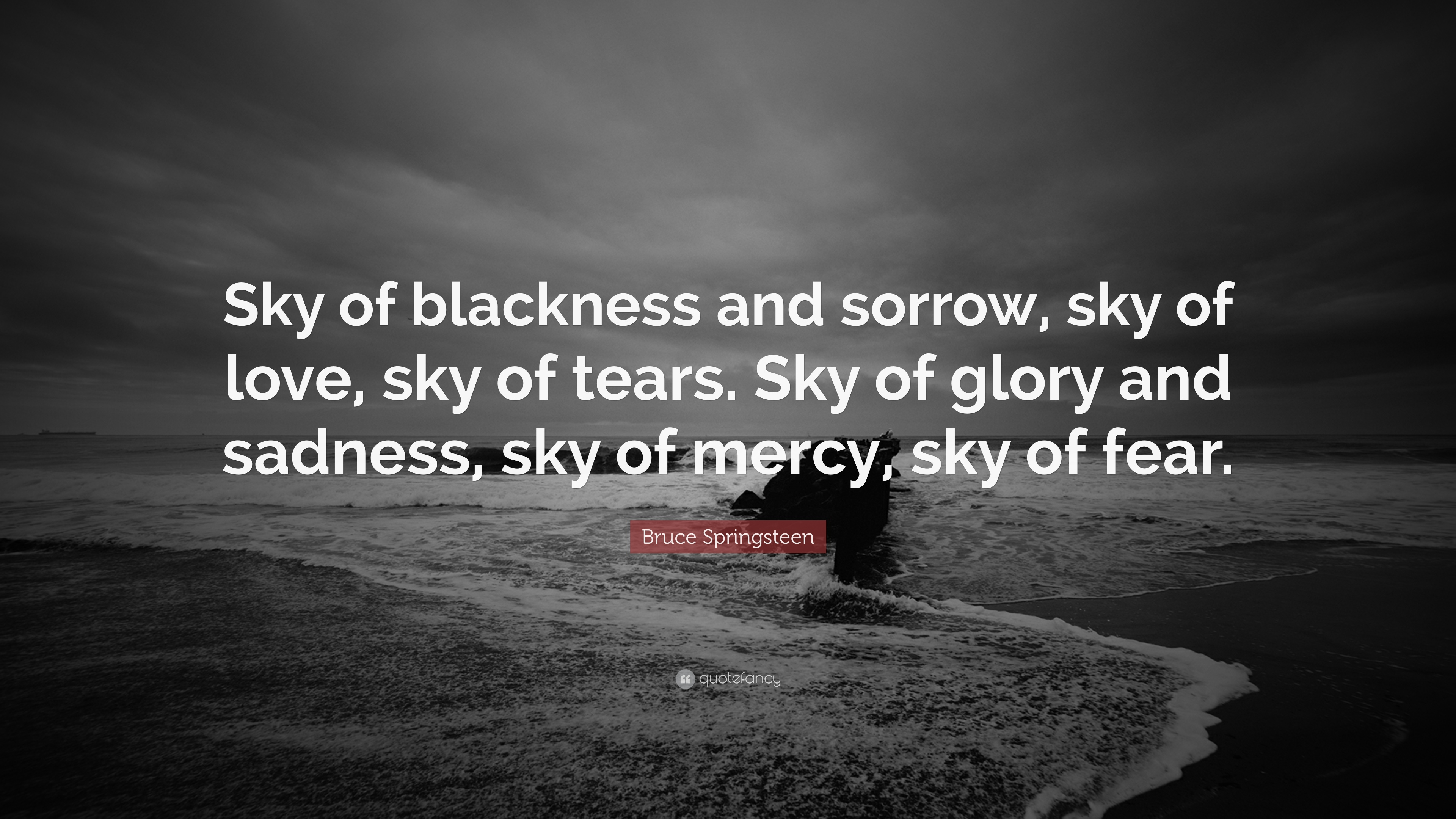 Roald Dahl Quotes Wallpaper Bruce Springsteen Quote Sky Of Blackness And Sorrow Sky