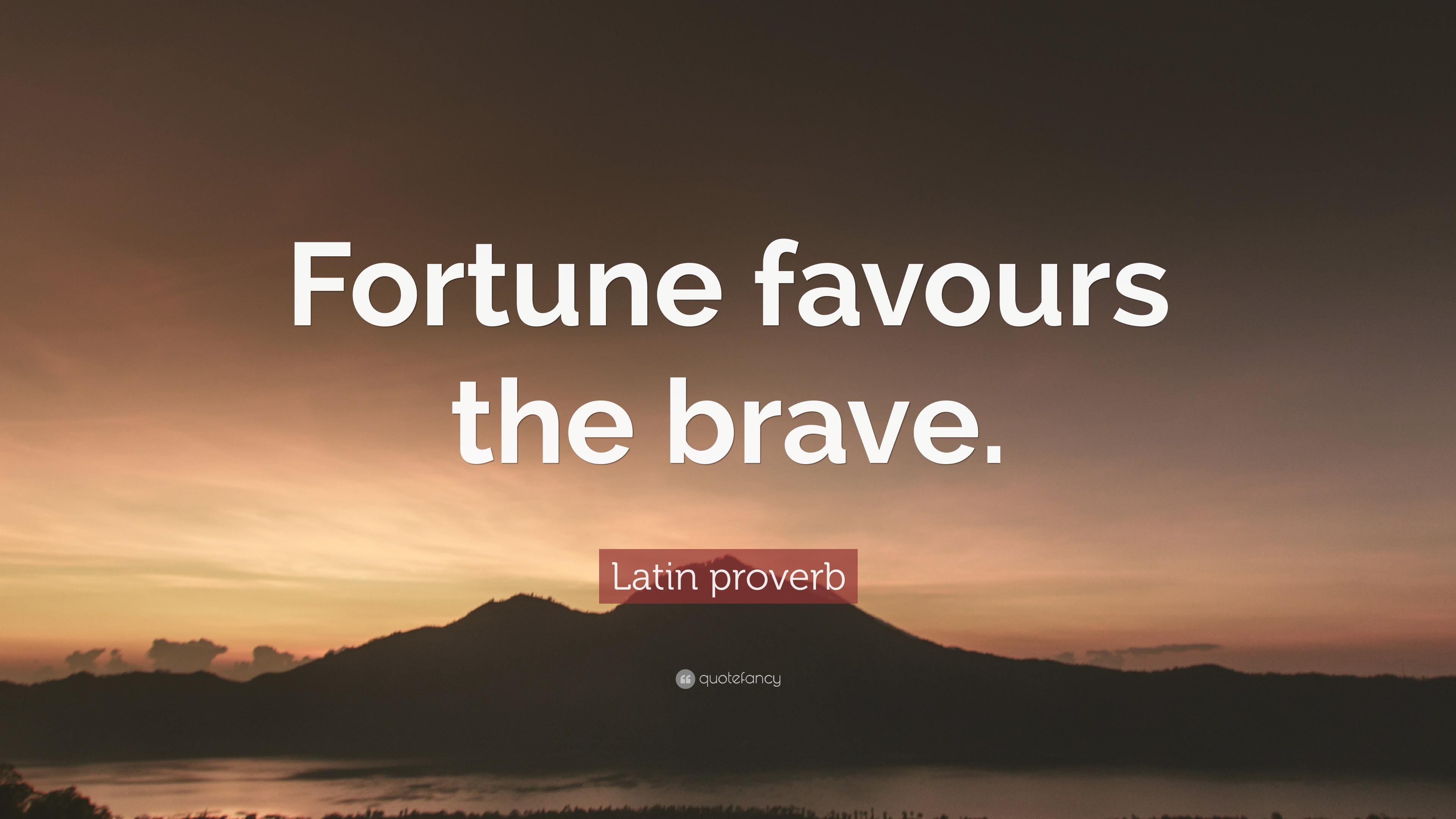 Conor Mcgregor Quote Wallpaper Latin Proverb Quote Fortune Favours The Brave 10