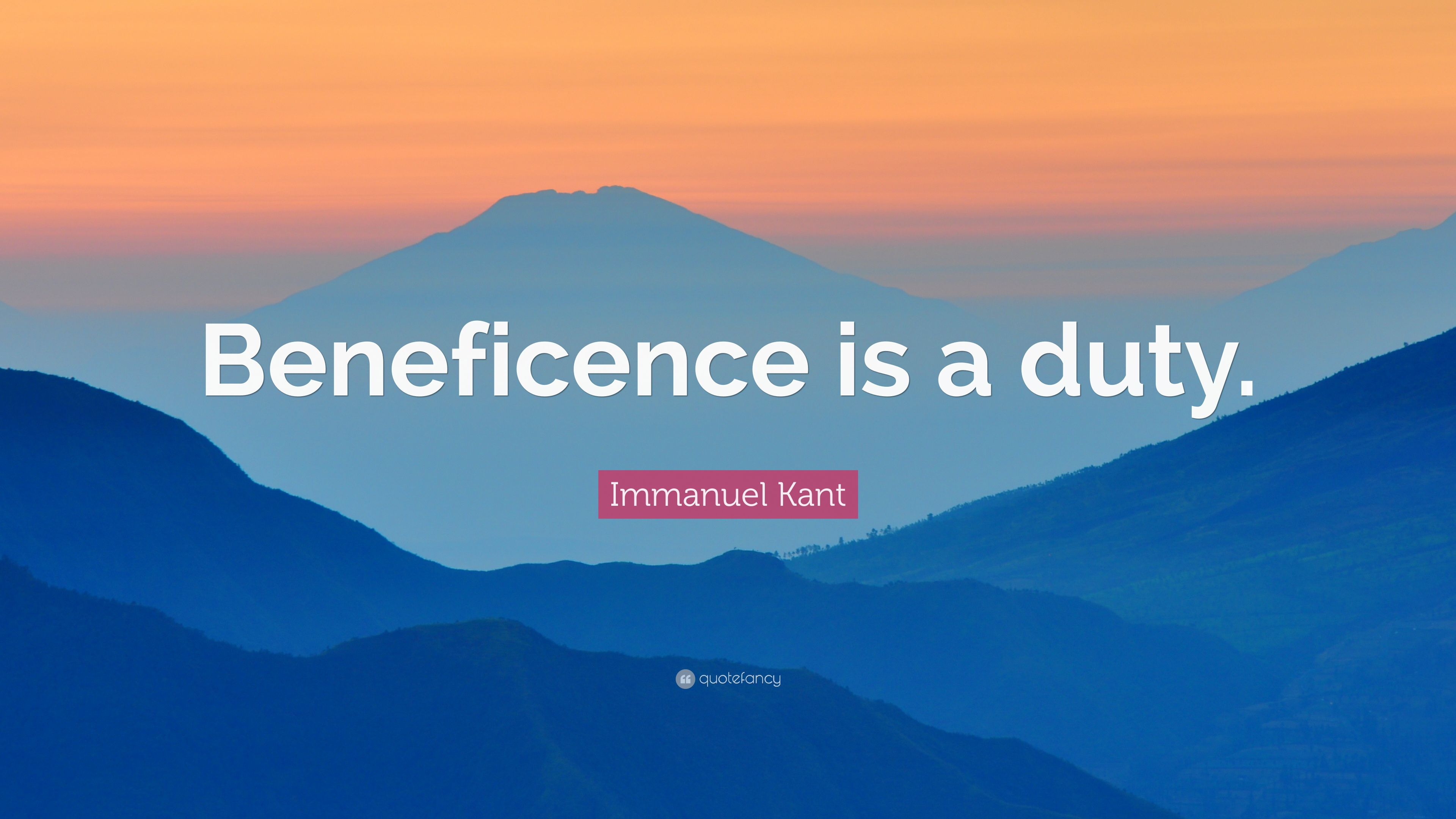 Immanuel Kant Quote Wallpaper Immanuel Kant Quote Beneficence Is A Duty 12