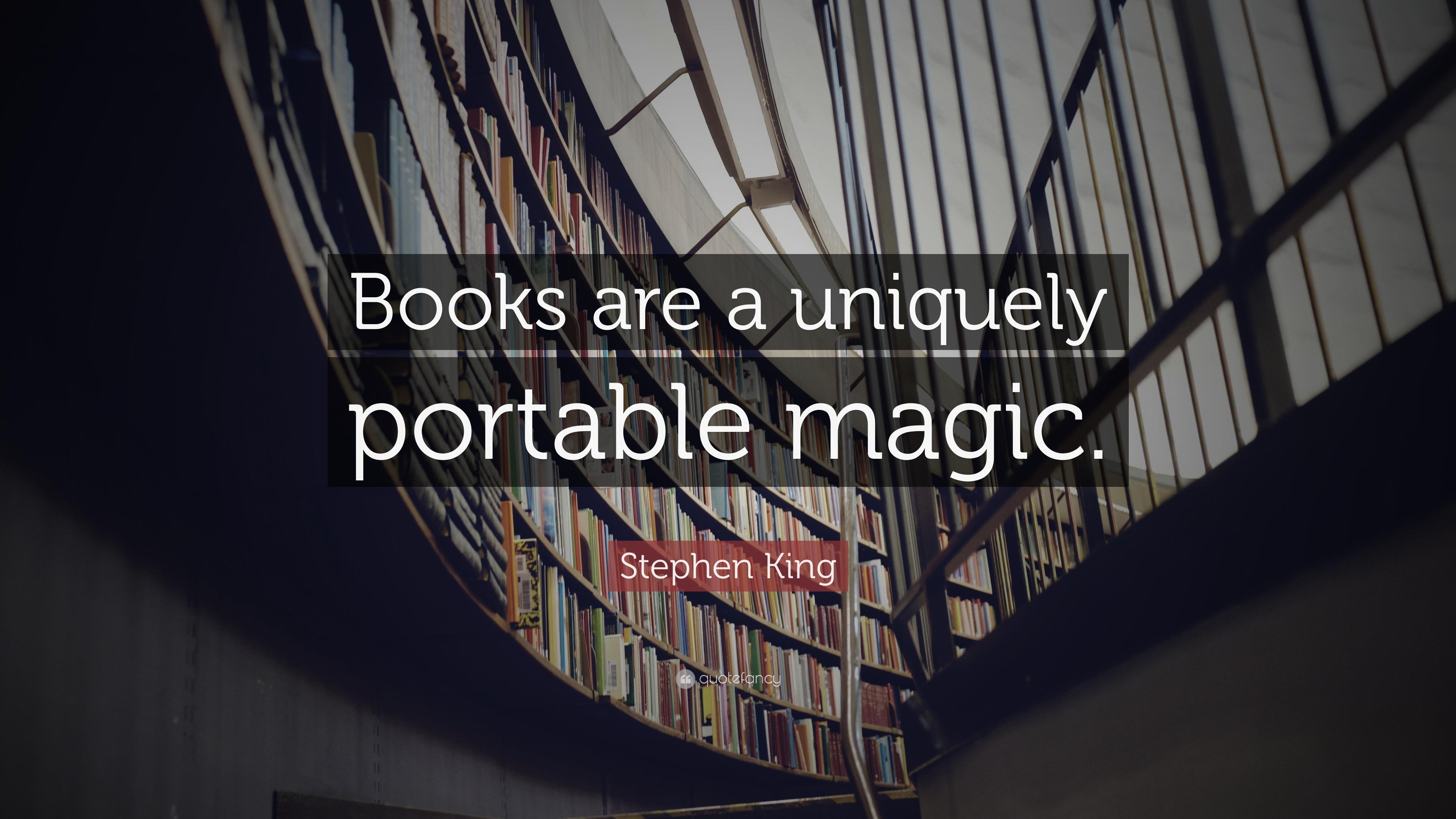 John Lennon Quotes Wallpaper Stephen King Quote Books Are A Uniquely Portable Magic