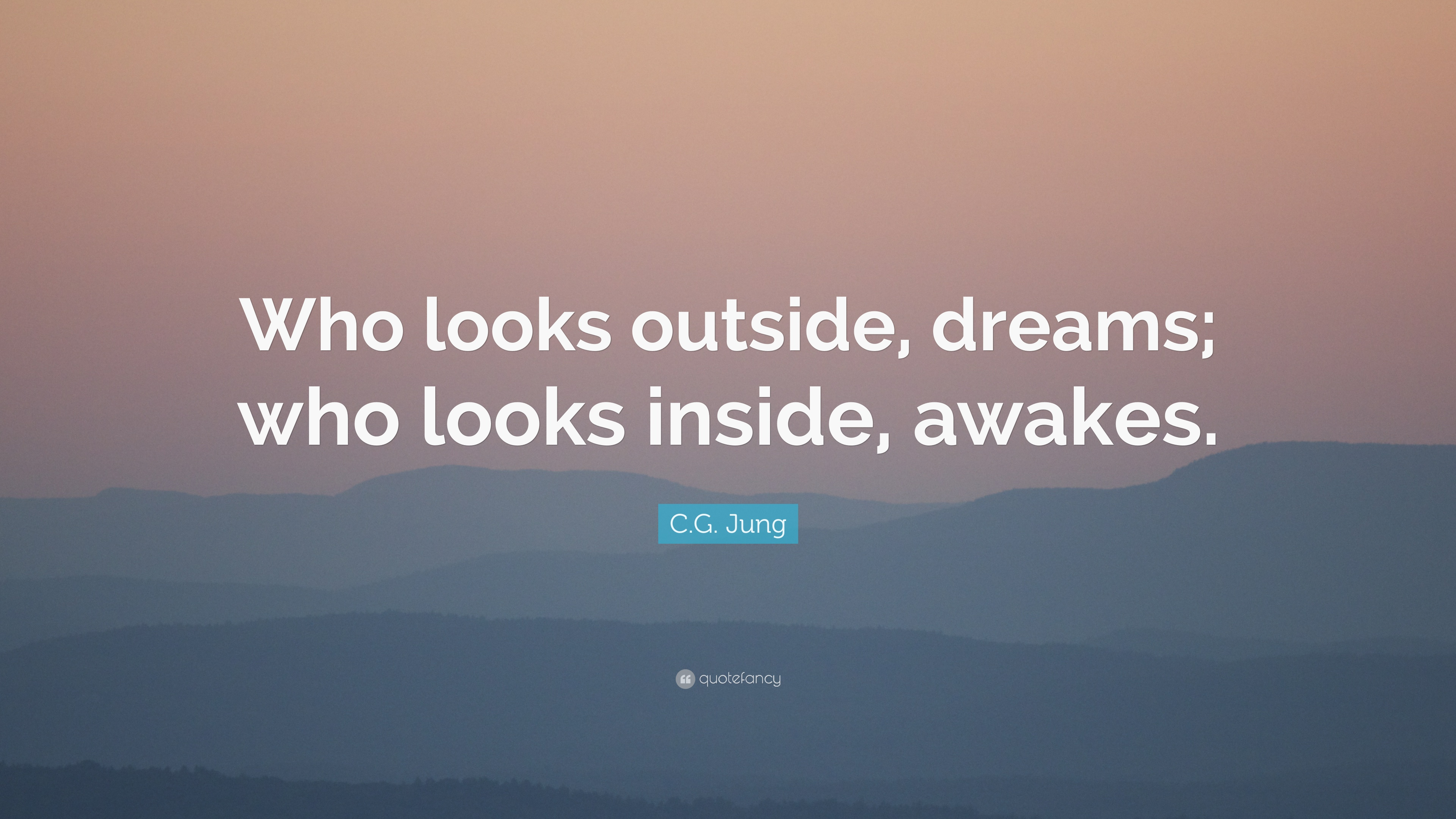 Zen Quote Wallpapers C G Jung Quote Who Looks Outside Dreams Who Looks