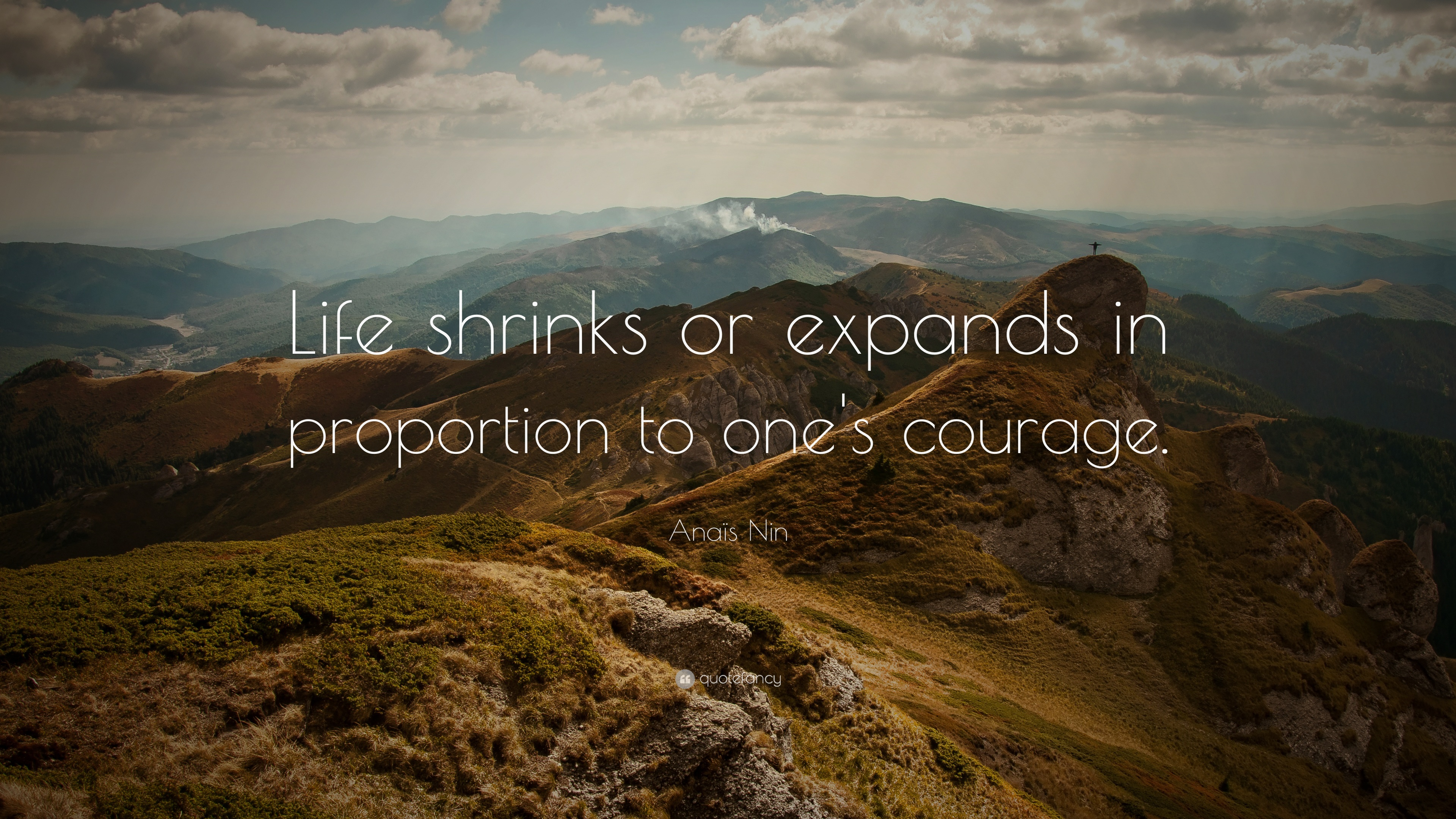 Attitude Quotes Hd Wallpapers For Pc Ana 239 S Nin Quote Life Shrinks Or Expands In Proportion To