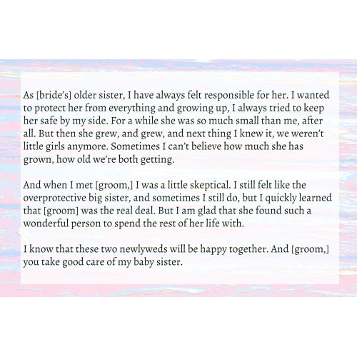 Medium Crop Of Maid Of Honor Speech