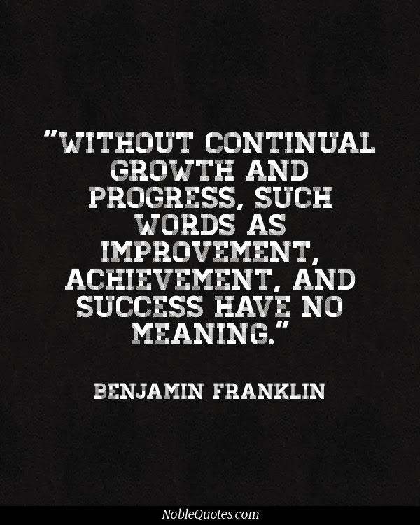 Quote of Benjamin Franklin QuoteSaga - words for achievement