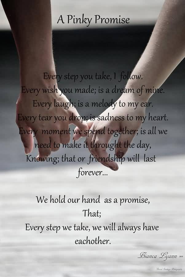 Cute Friendship Wallpapers For Whatsapp 25 Pinky Promise Quotes And Sayings Collection Quotesbae