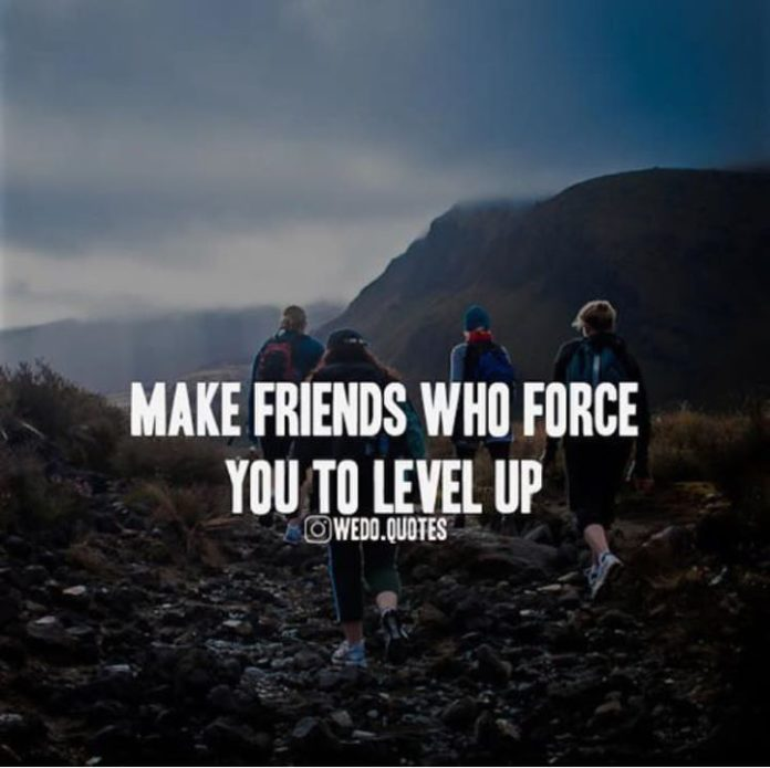 Positive Quotes Phone Wallpaper Positive Quotes Make Friends Who Force You To Level Up