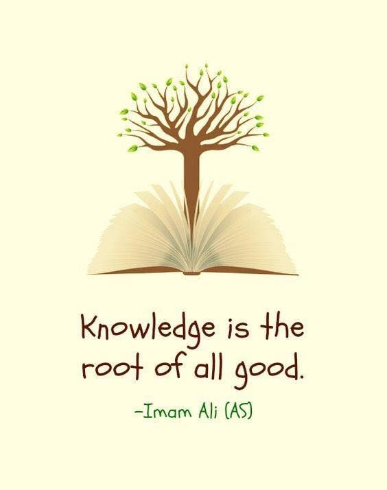 Hazrat Ali Quotes In English Wallpaper Positive Quotes Knowledge Is The Root Of All Good Imam