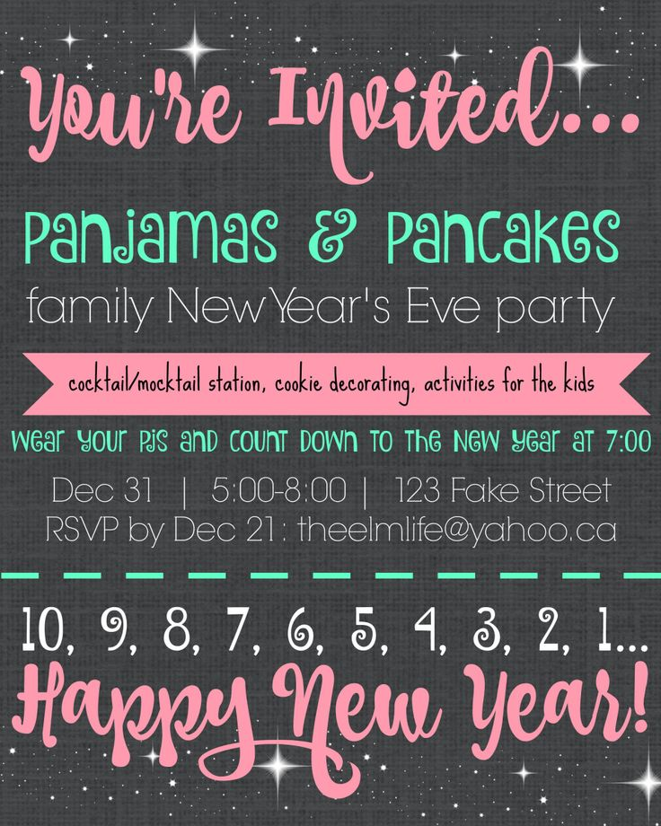 New Year\u0027s Eve 2019  Pajamas  Pancakes family New Year\u0027s Eve party