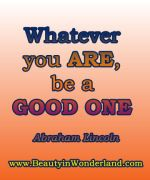 Whatever You Are Be A Good E Quote