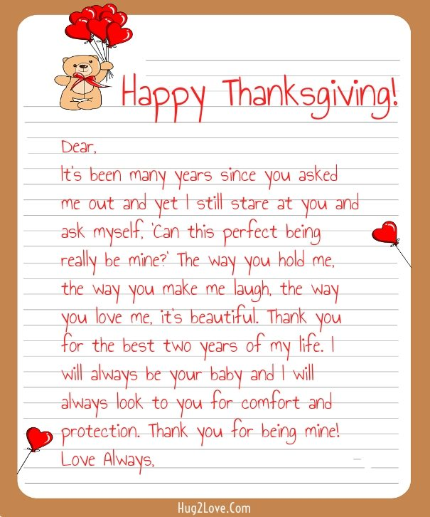 Thanksgiving Love Letters for Her  Him - love letters for her