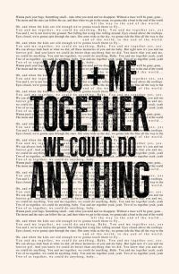 Love quote : You and Me - Book Page - Dave Matthews Band ...
