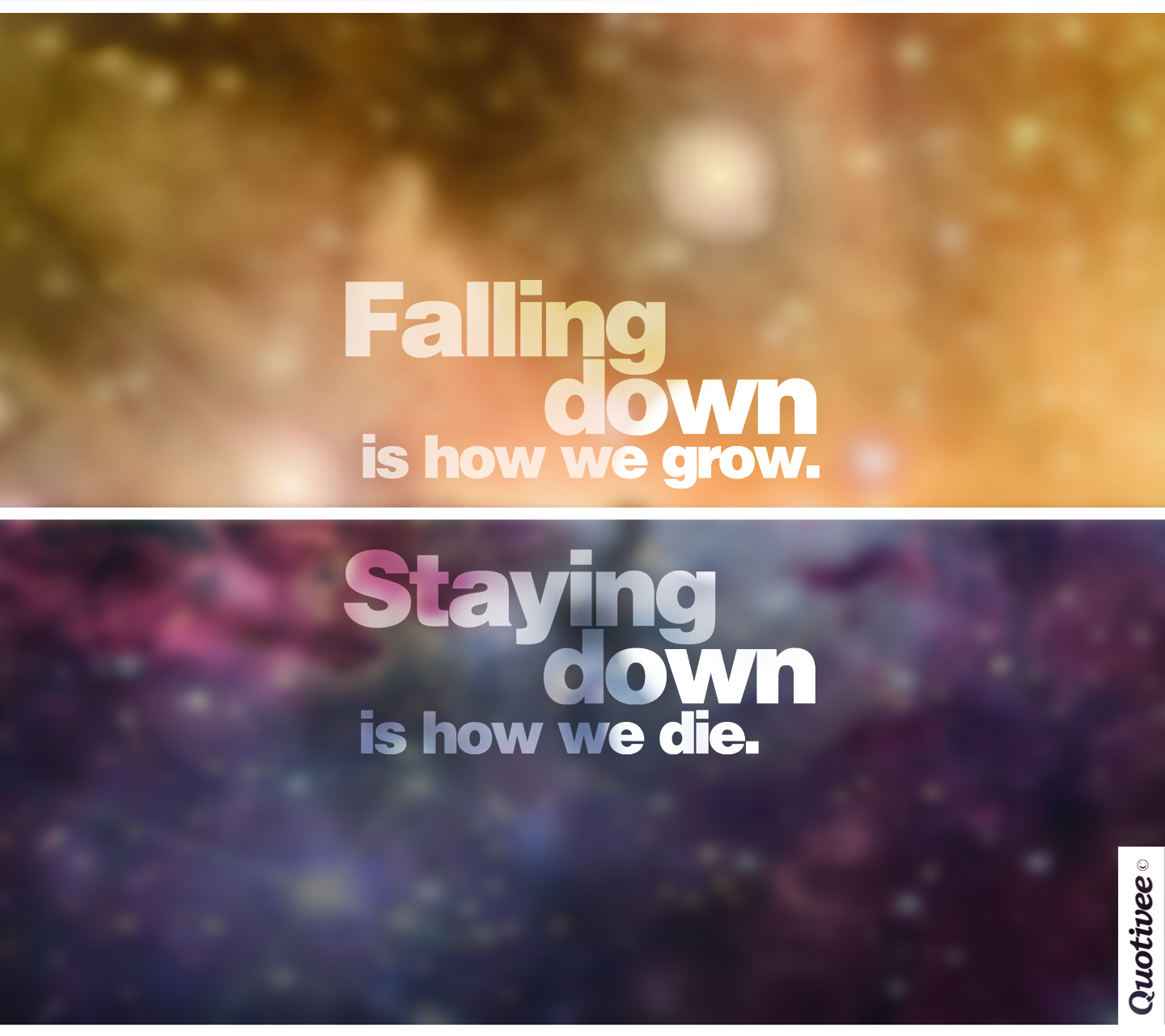 Wallpaper Falling Down How We Grow And How We Die Inspirational Quotes Quotivee