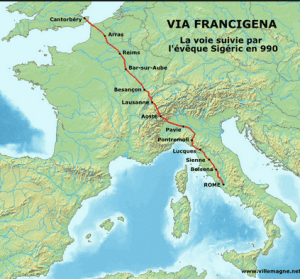 The Via Francigena - Canterbury to Rome