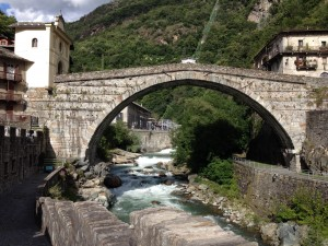 Built in the reign of Augustus - the bridge at Pont St Martin