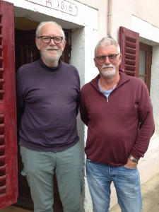 Via Francigena royalty: Francis Geere and Pail Chinn