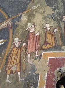 Medieval pilgrims, Sutri, which I didn't see